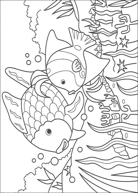 rainbow fish - Rainbow Fish Coloring Page