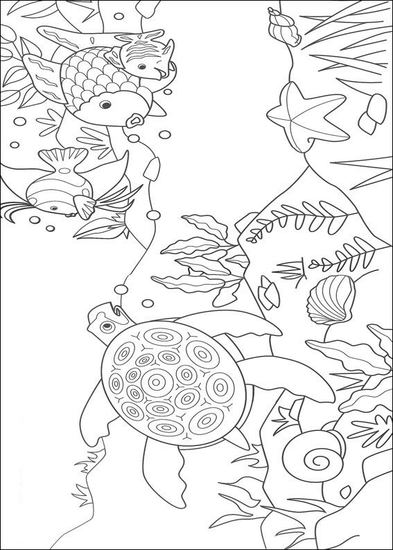 rainbow fish - Rainbow Fish Coloring Pages