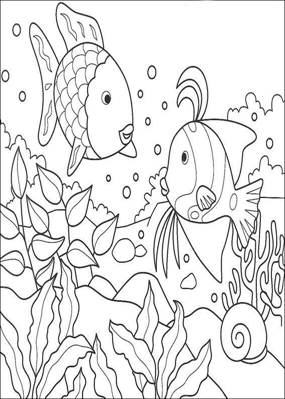 Kids-n-fun.com | Coloring page Rainbow Fish Rainbow Fish