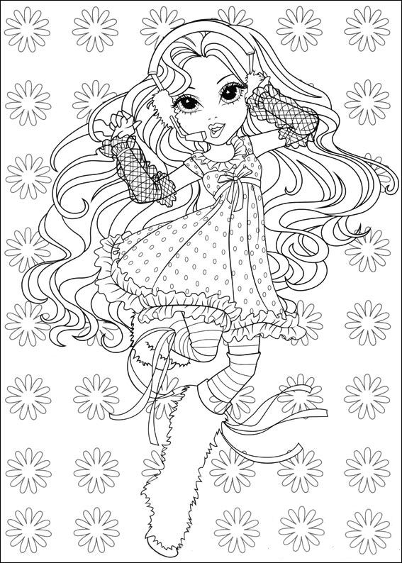 moxie dolls coloring pages - photo#17