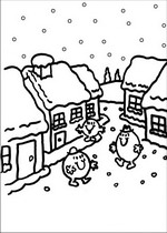 coloring page Mr Men and Litltle Miss