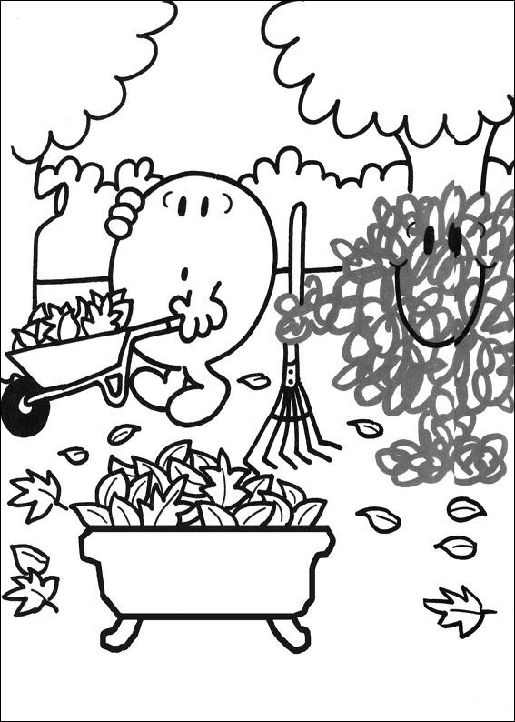 Kids n funcom 58 coloring pages of Mr Men and Litltle Miss