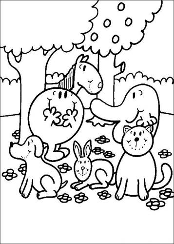 Kids N Fun Com 58 Coloring Pages Of Mr Men And Litltle Miss