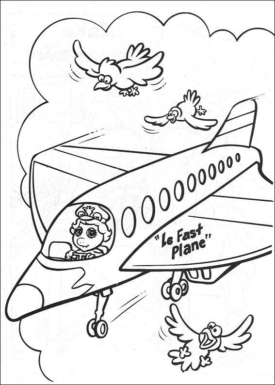 Plane #60 (Transportation) – Printable coloring pages | 794x567