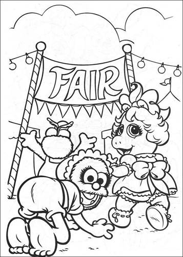 Muppets Coloring Pages 34 | Baby coloring pages, Coloring pages ... | 500x357