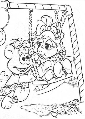 Kids-n-fun.com | 57 coloring pages of Muppet babies