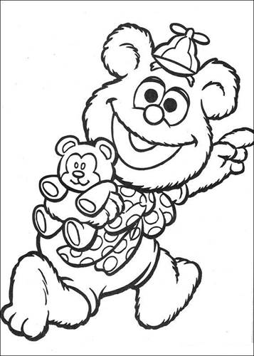 Kids N Fun Com 57 Coloring Pages Of Muppet Babies