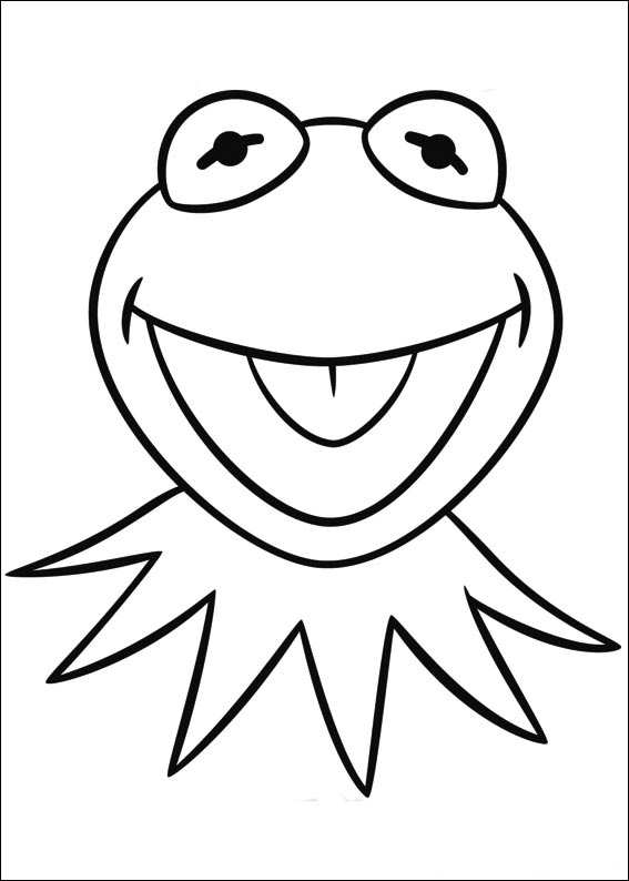 Kids N Fun Com Coloring Page Muppets Kermit