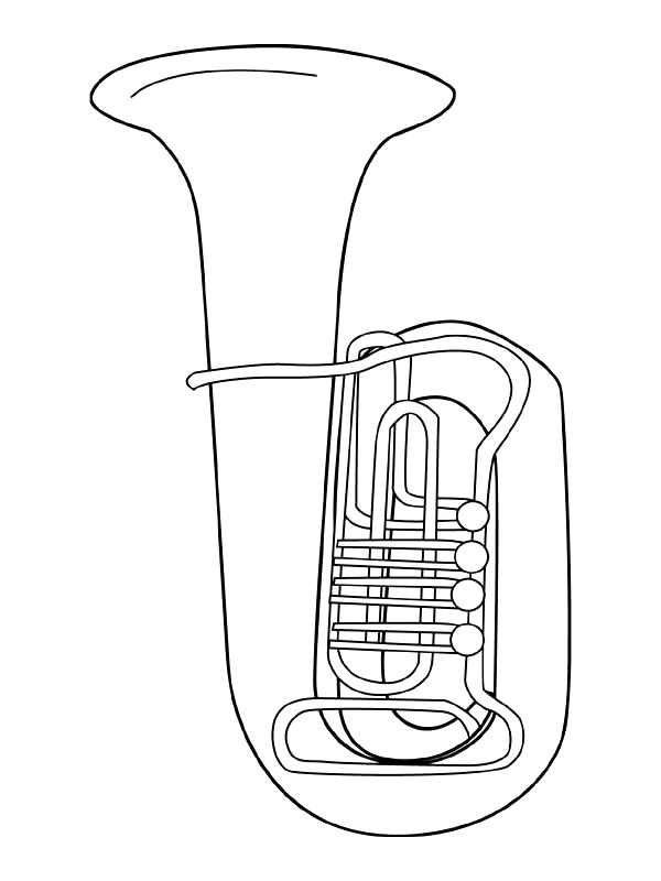band instrument coloring pages - photo#13