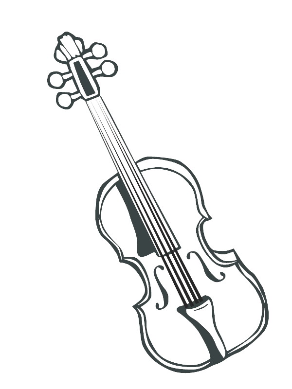 free music instrument coloring pages - photo#31