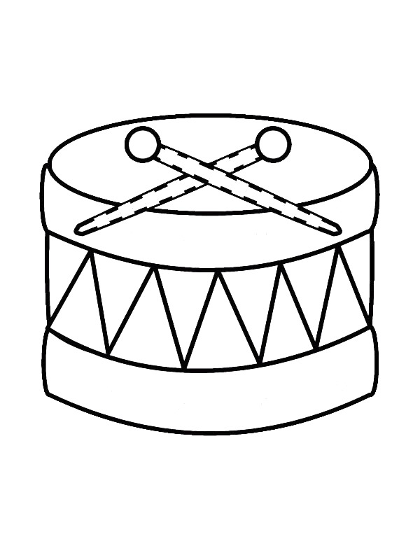 free music instrument coloring pages - photo#23