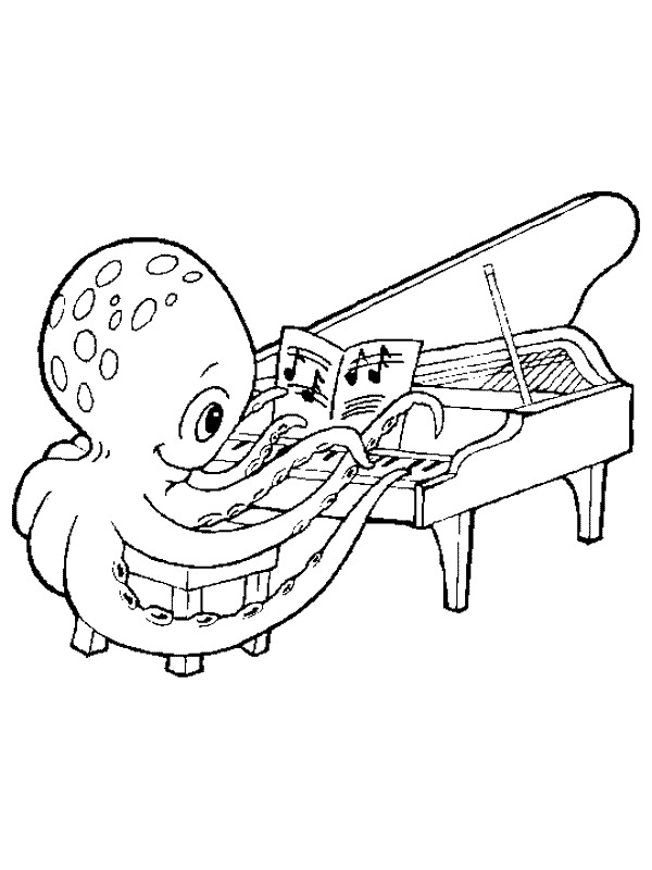 Kidsnfun 62 coloring pages of Musical Instruments