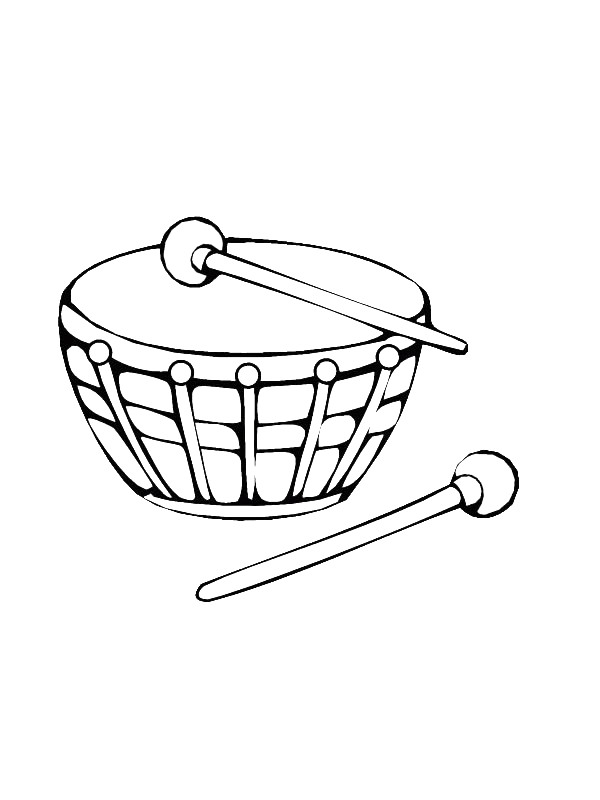 percussion instrument coloring pages - photo#20