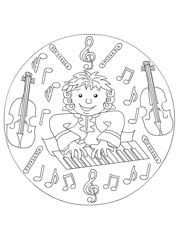 percussion instruments coloring pages - photo#10