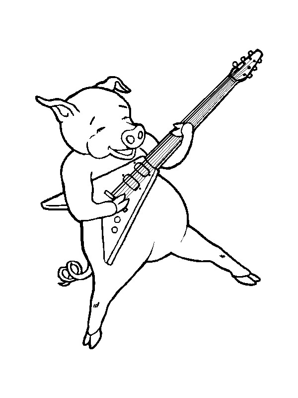 Kids N Fun Com 62 Coloring Pages Of Musical Instruments