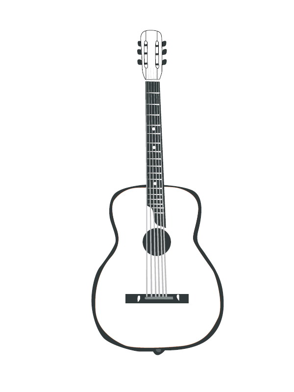 Ukulele Ausmalbilder - Ultra Coloring Pages | 800x600