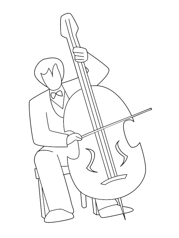 kids-n-fun.com | 62 coloring pages of musical instruments - String Instrument Coloring Pages