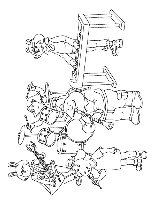 percussion instruments coloring pages - photo#26