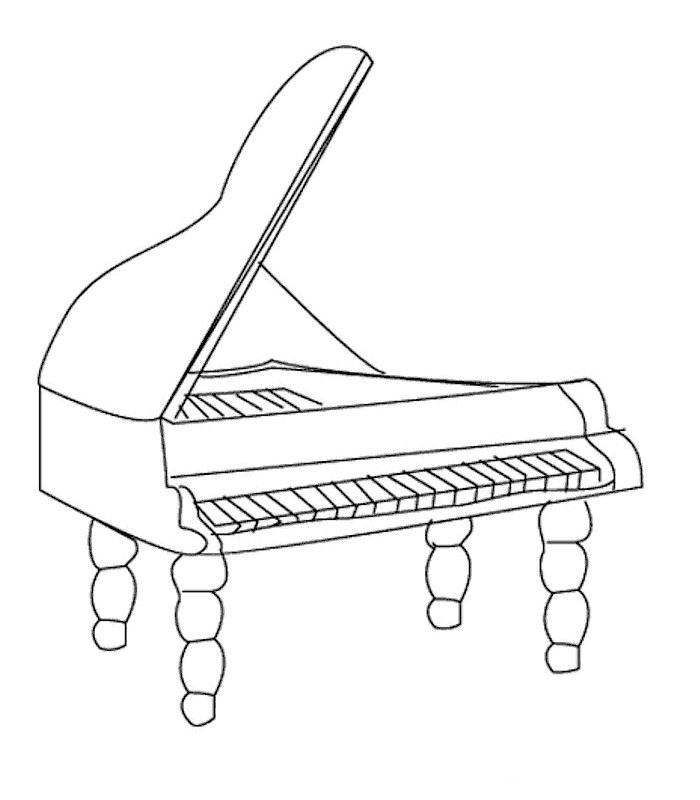 percussion instruments coloring pages - photo#34