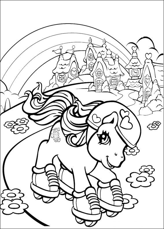 Kidsnfuncom  70 coloring pages of My little pony