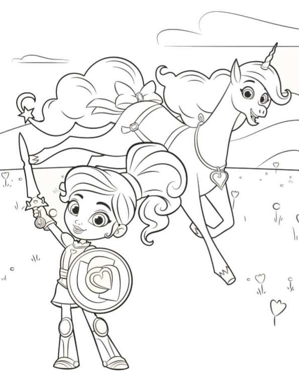 Kids n funcom 13 coloring pages of Nella the princess knight
