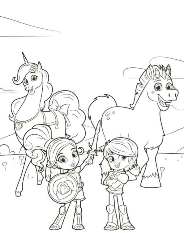Kids-n-fun.com | 13 coloring pages of Nella the princess knight