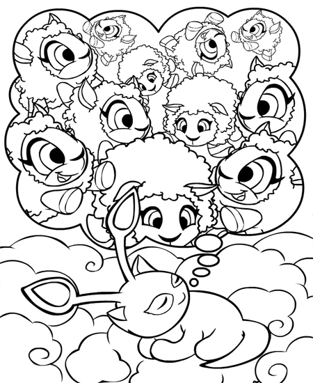 Kids N Fun Com 24 Coloring Pages Of Neopets Faerieland