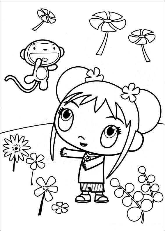 Kids-n-fun.co.uk | 49 coloring pages of Ni hao Kai Lan