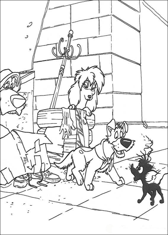 Kids N Fun Com 45 Coloring Pages Of Oliver And Co
