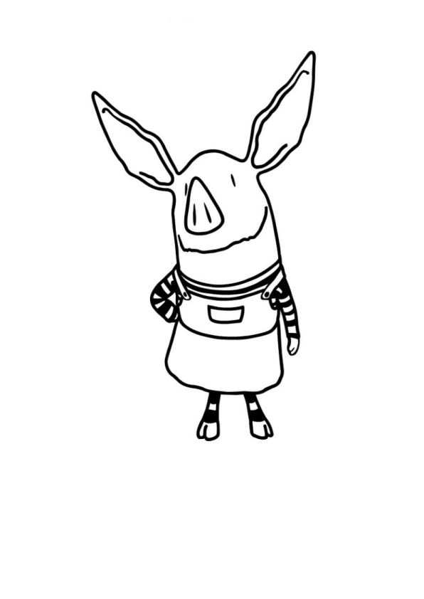 olivia coloring pages for kids - photo#7