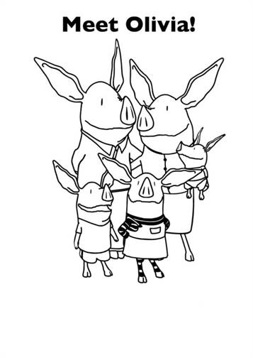 Kids N Fun Com 17 Coloring Pages Of Olivia