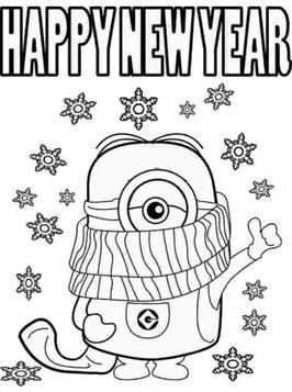 Kids N Fun Com 14 Coloring Pages Of New Years Eve
