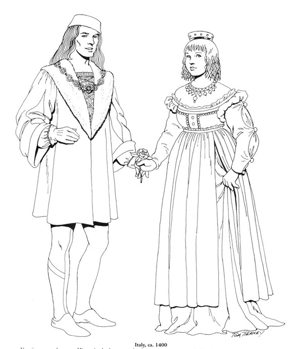 Kids-n-fun.com | 45 coloring pages of Clothing of the Renaissance