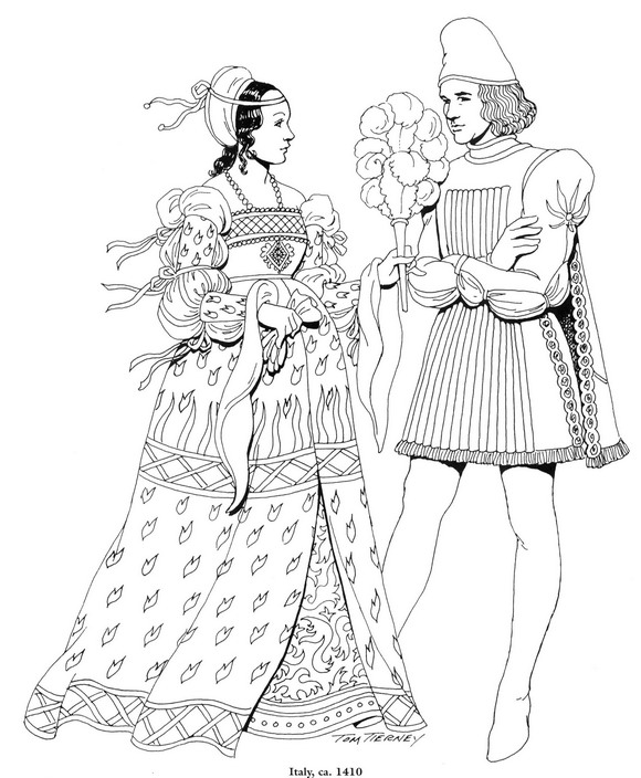 coloring pages for the renaissance - photo#1