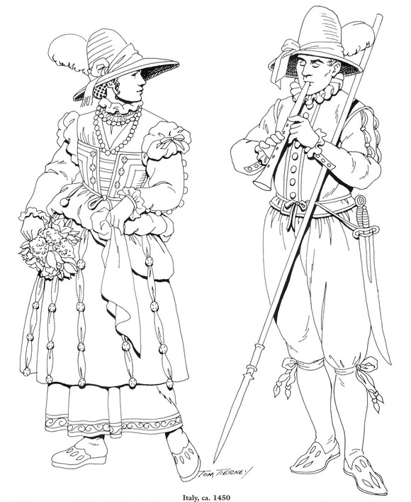 Coloring Pages Clothing: 45 Coloring Pages Of Clothing Of The