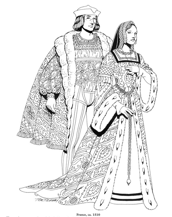 coloring pages for the renaissance - photo#7