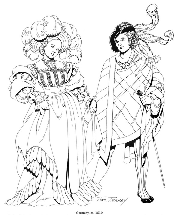 Kids-n-fun.com | Coloring page Clothing of the Renaissance Clothing ...