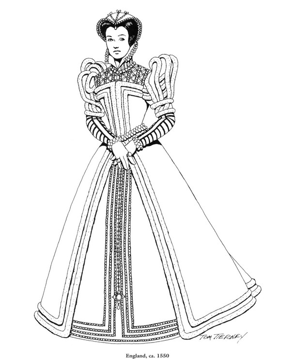 Kids N Fun Com Coloring Page Clothing Of The Renaissance