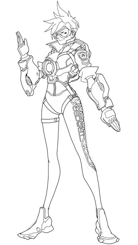 Kids-n-fun.com | 30 coloring pages of Overwatch