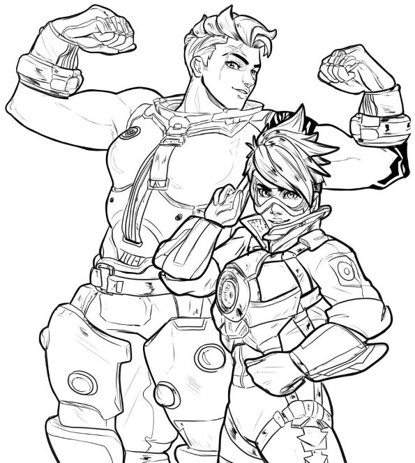 30 Coloring Pages Of Overwatch