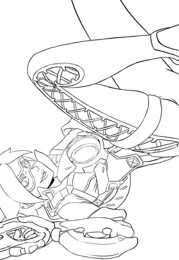 It's just a picture of Nifty Overwatch Coloring Sheets