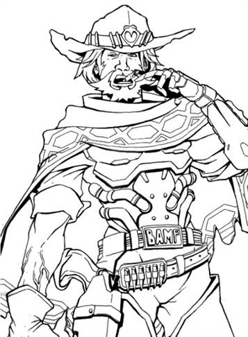 Kids N Fun Com 30 Coloring Pages Of Overwatch
