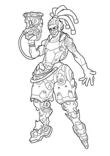 Kids-n-fun.com   30 coloring pages of Overwatch