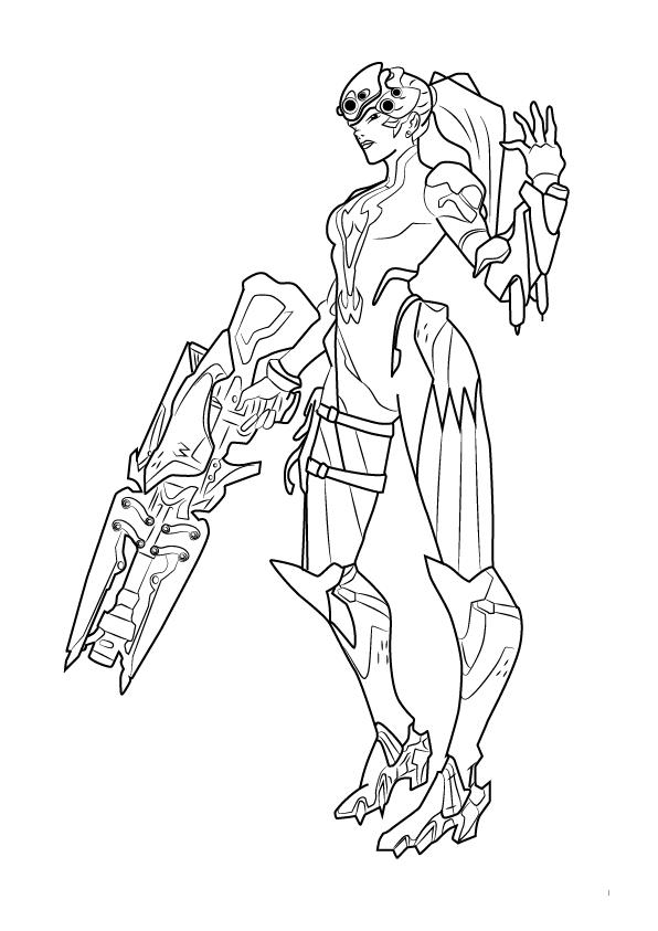 It's just a graphic of Refreshing Overwatch Coloring Sheets