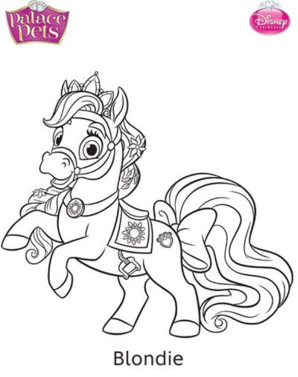 Kids-n-fun.com Coloring Page Princess Palace Pets Blondie