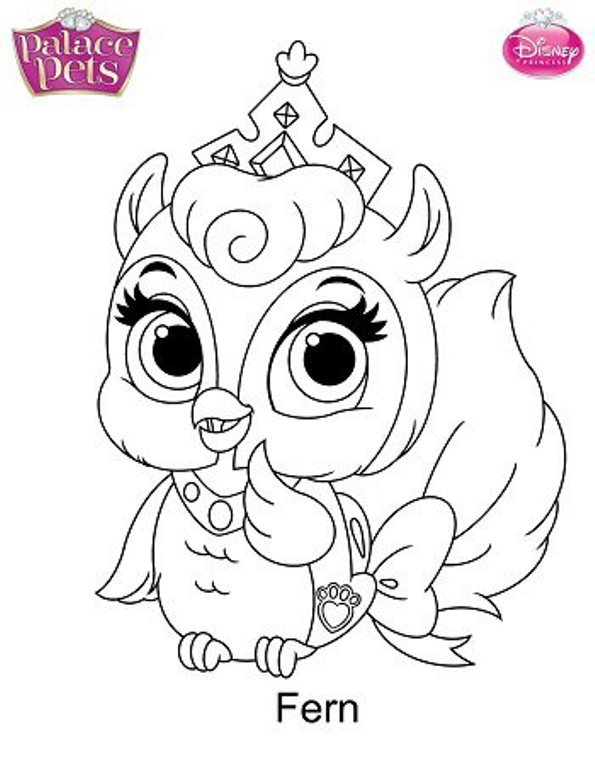 Kidsnfun 36 coloring pages of Princess Palace Pets