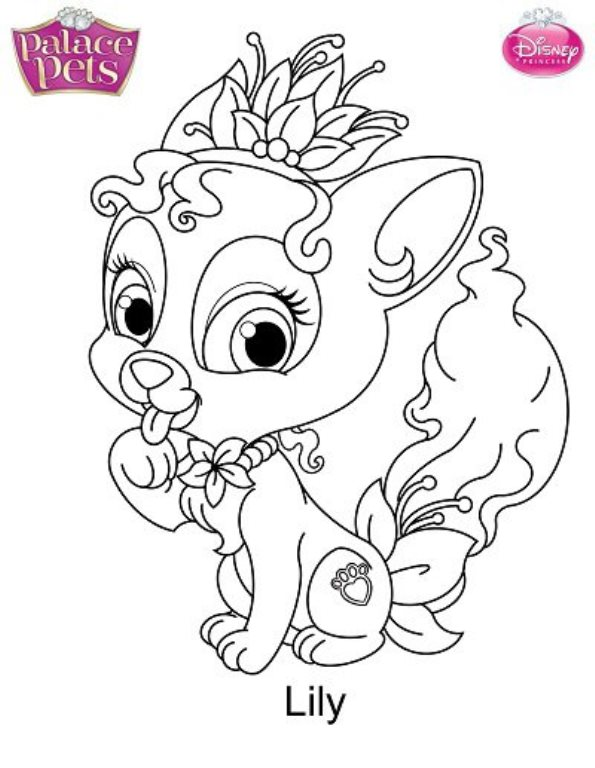Kids-n-fun.co.uk | 36 coloring pages of Princess Palace Pets