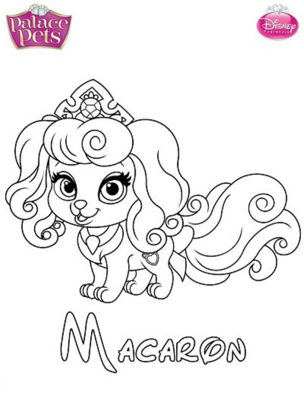 Kids n fun com 36 coloring pages of princess palace pets