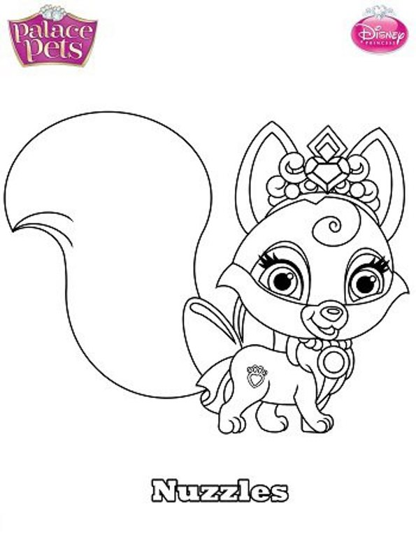 Kids N Fun Co Uk Coloring Page Princess Palace Pets Nuzzles