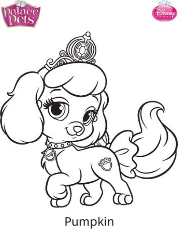 Kids-n-fun.com | Coloring page Princess Palace Pets pumpkin